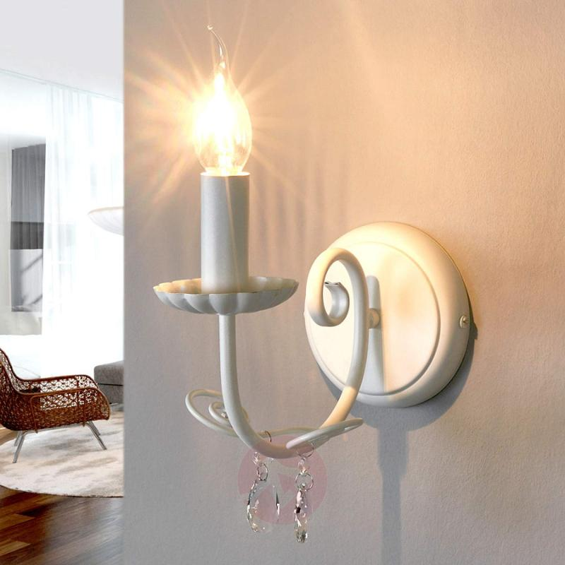Enchanting wall lamp Sophina in white - indoor-lighting
