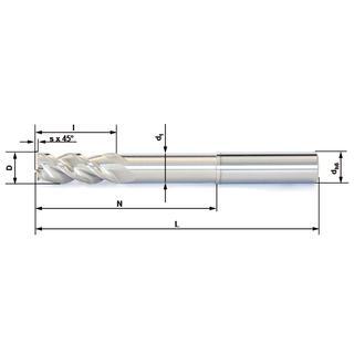 Vollhartmetallfräser VHM 389-03 AL05 - null