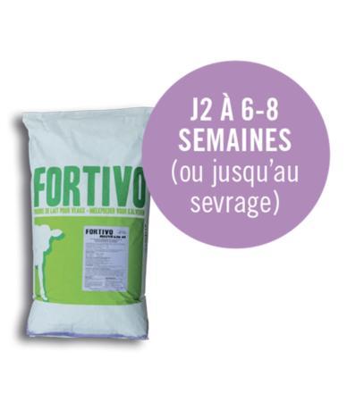Aliment complet d'allaitement pour veaux d'élevage - Fortivo Mauve