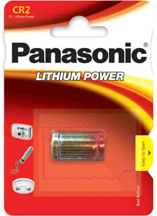 Batterie al litio Foto Power CR2 - CR-2L/1BP | Blister da 1 pila per fotocamere Panasonic
