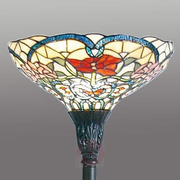 Spring-like floor lamp Kayla, Tiffany-style - Floor Lamps