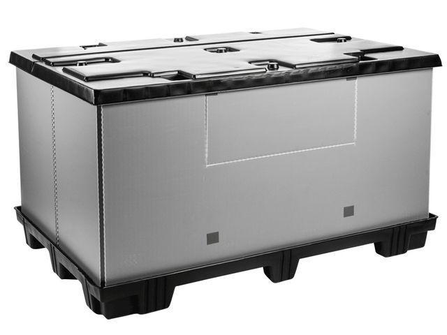 Grand bac pliable: Mega-Pack 1800 - Grand bac pliable: Mega-Pack 1800, 1820 x 1200 x 1000 mm