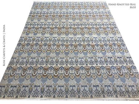 Hand Knotted Persian Carpet in 100% Wool Pile - Hand Knotted Persian Style Carpet in 100% Wool Pile in size 8x10