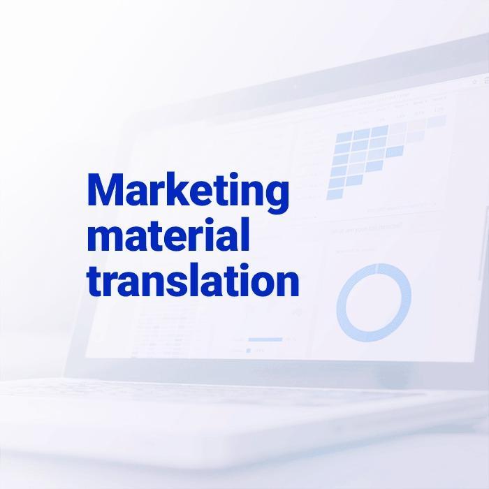 Marketing material translation -