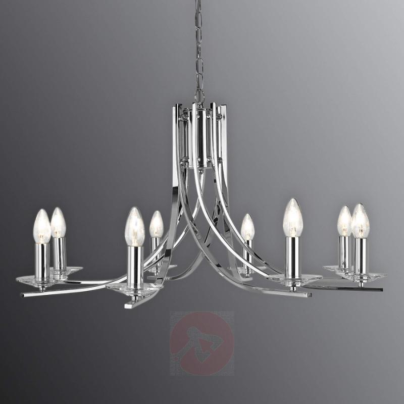 Shiny Ascona hanging light with 8 bulbs - indoor-lighting