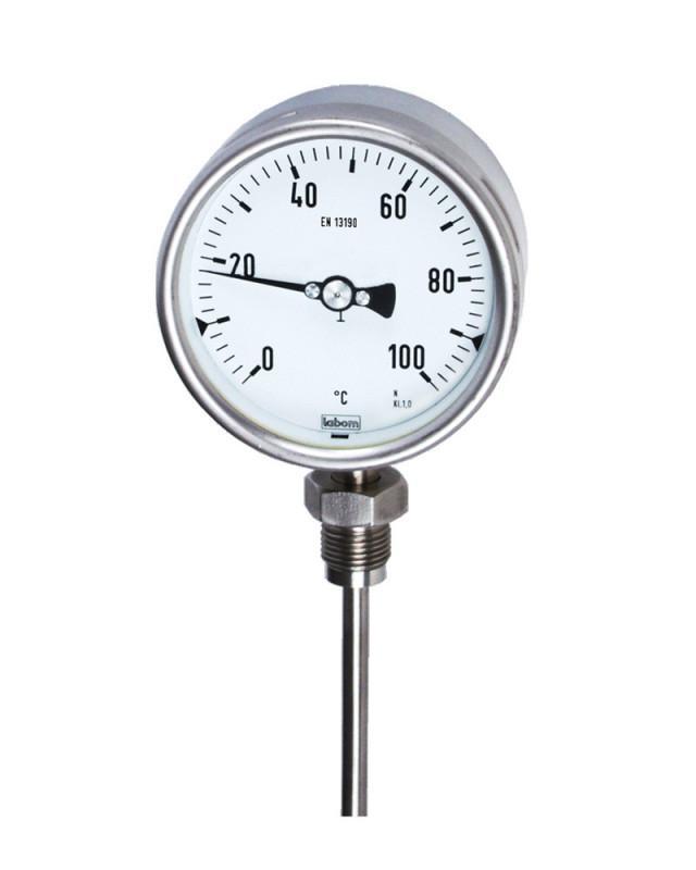 Gasdruckthermometer, verschiedene Prozessanschlüsse - Gasdruckthermometer in hochwertigem Bajonettringgehäuse NG 100/160