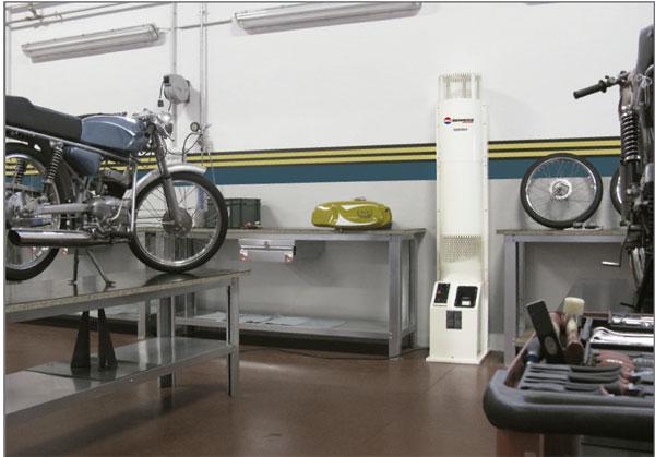 Calefacción de talleres de automoción con gasóleo - VE - generador de aire caliente para talleres de automoción