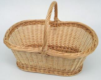 Panier ovale 2 tons bords relevés - null