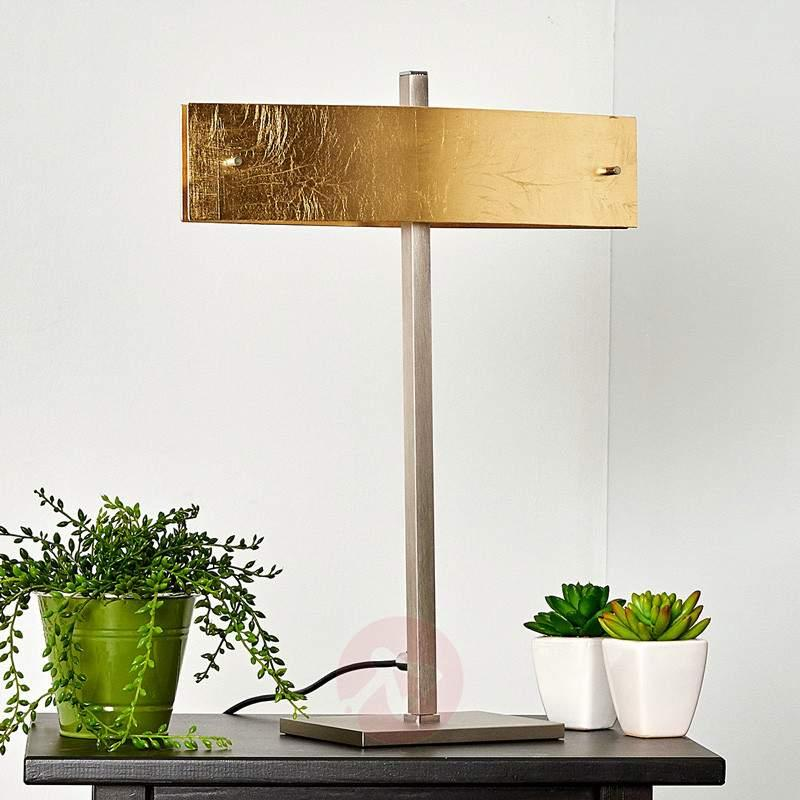 Malu table lamp with golden lampshade, LED - Window Sill Lights