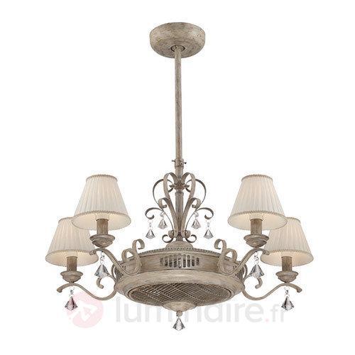 Ventilateur de plafond Samira avec télécommande - Ventilateurs de plafond lumineux