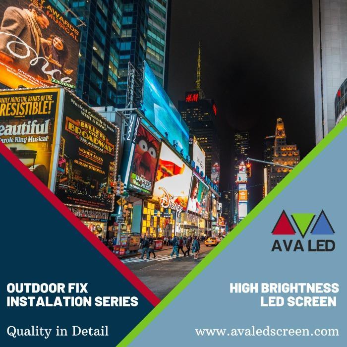 Schermo a LED per pubblicità stradale - AVA Led Totem e Schermo Poster