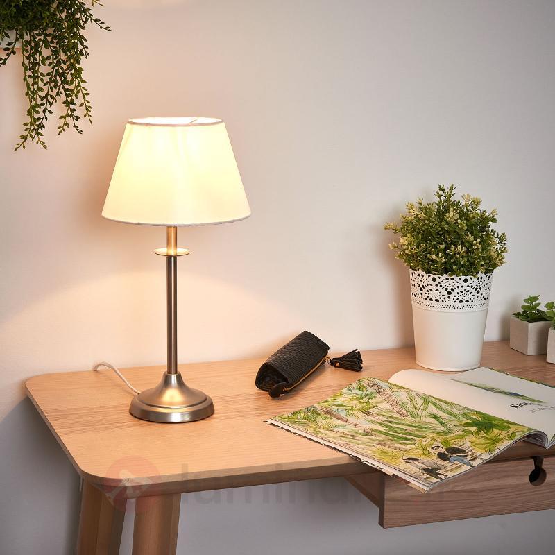 Lampe à poser moderne KOGE blanc crème - Lampes de chevet