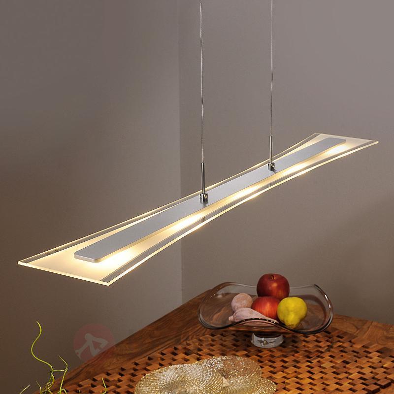 Suspension LED Runia plate en verre - Suspensions LED