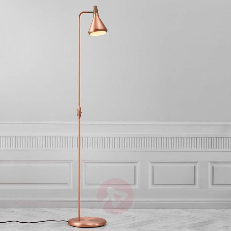 Copper-coloured Float LED floor lamp - Floor Lamps