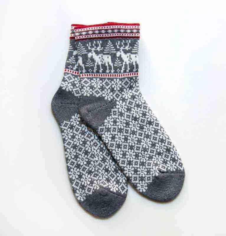 100% Wool Socks 'DEER' - woollen socks