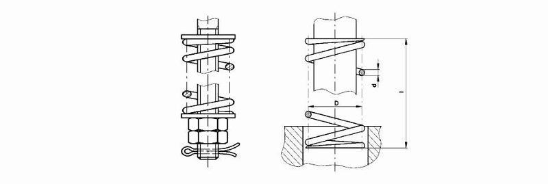 Damping materials - Pressure springs (standard)