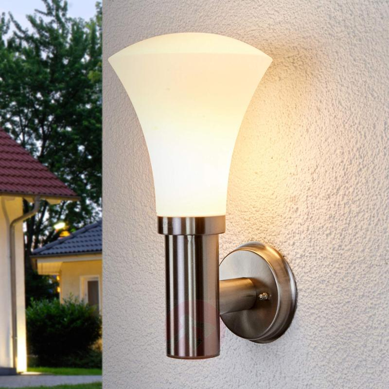Attractive wall lamp Juliane for outdoors - stainless-steel-outdoor-wall-lights