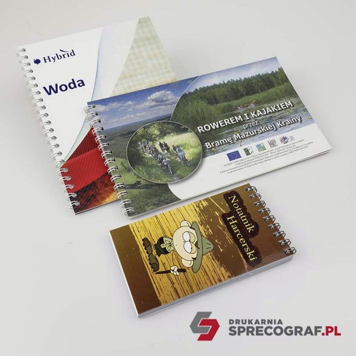 Draadbinding: notitieboekjes, catalogi, brochures  - spiraalbinding, trainingsmateriaal, notitieboekjes