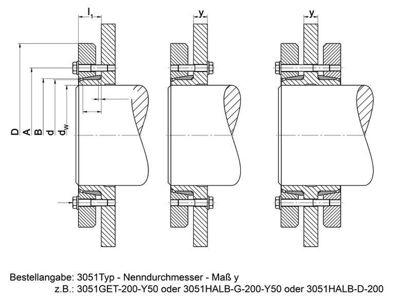 TAS-3051 Half/Split - Shrink Discs 3-part