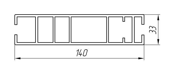 Aluminum Profile For Car And Rail Car Building Ат-965 - Aluminum profile for mechanical engineering