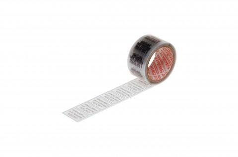 foil seal, transparent, with imprint, 30 x 20 mm - made from Steierform 87-50306