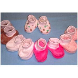 Velour baby shoes (art. 12/2-2)