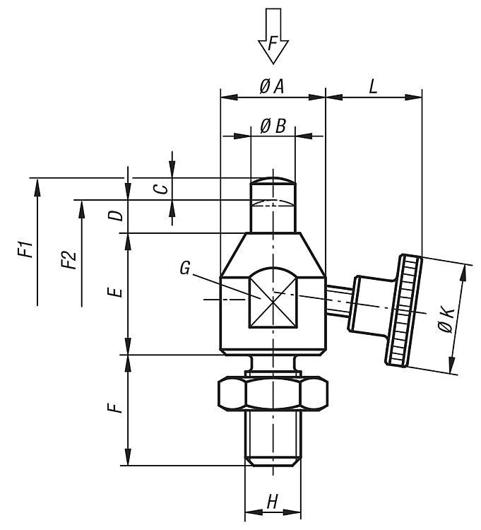 Workpiece supports adjustable - Structural and supporting elements