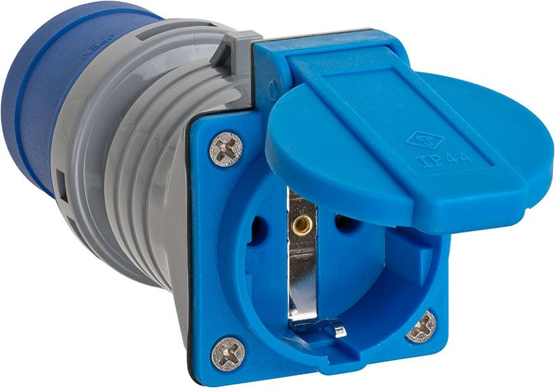 Adapter Schuko Plug 230V/CEE 16A IP44 - null