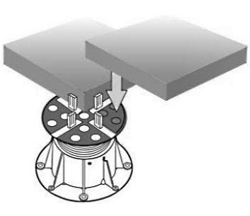 Tegeldragers PVC dakbedekking - Hoogwaardige rubber & kunststof tegeldragers voor PVC dakbedekking