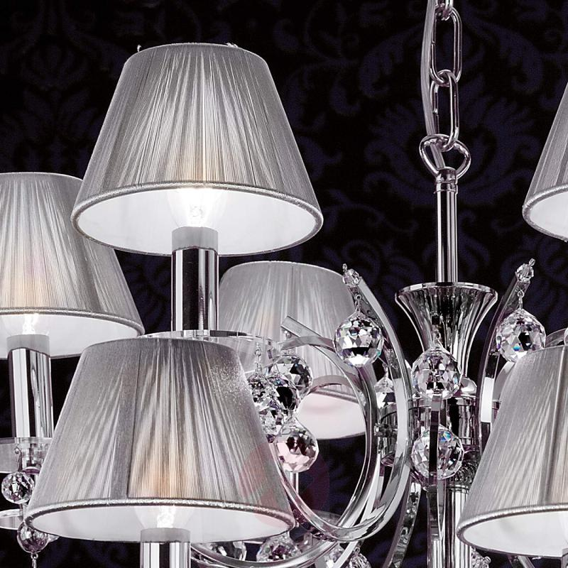 18-light chandelier Crystal Design, chrome - design-hotel-lighting