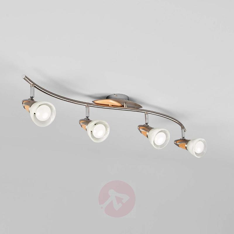 4-light wooden ceiling light Marena with E14 LEDs - Ceiling Lights