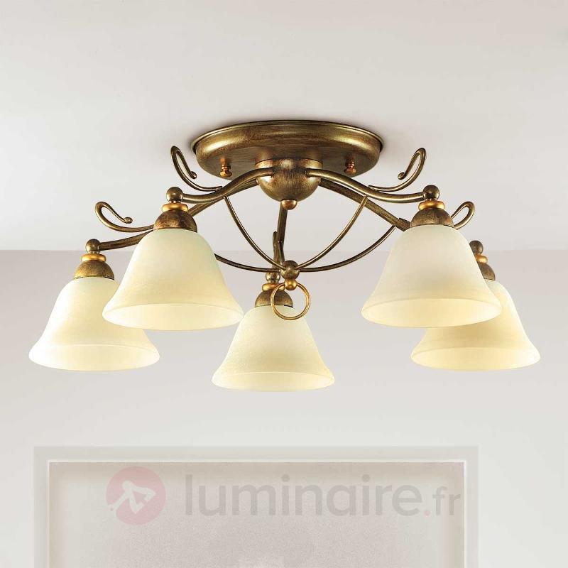Plafonnier Antonio à 5 lampes - Plafonniers classiques, antiques