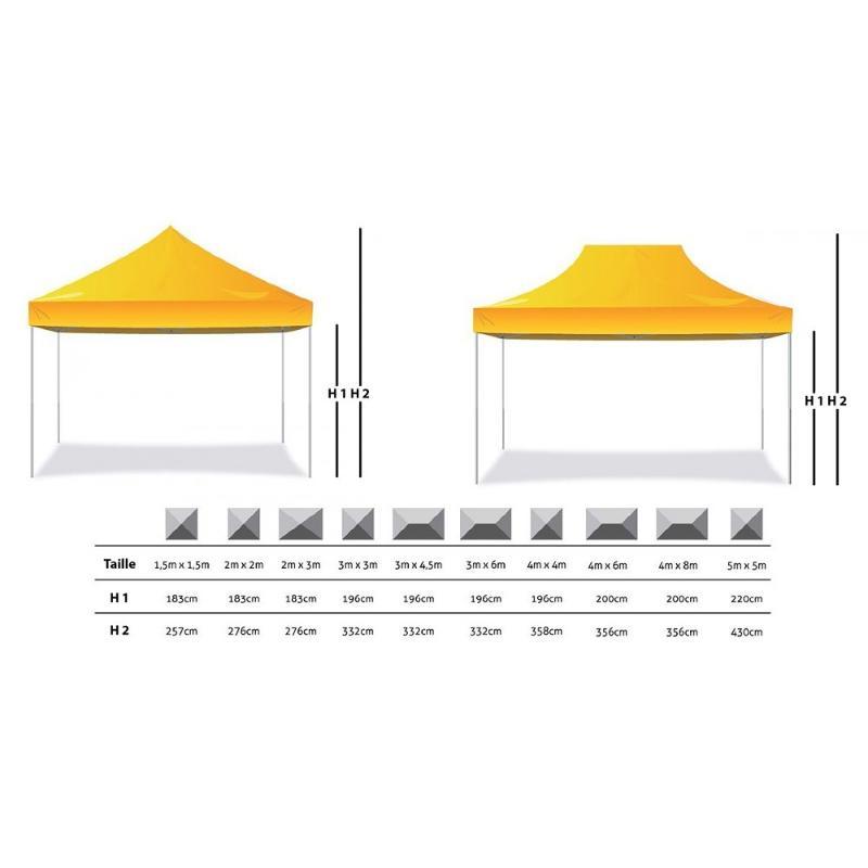Tente gazebo chapiteau - Tente publicitaire