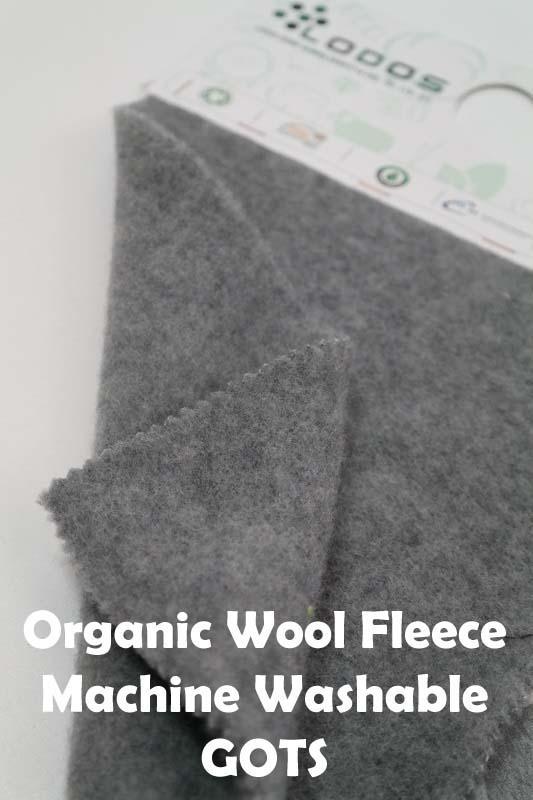 Organic Merino Wool Fleece - Available in Melange-Solid Colors