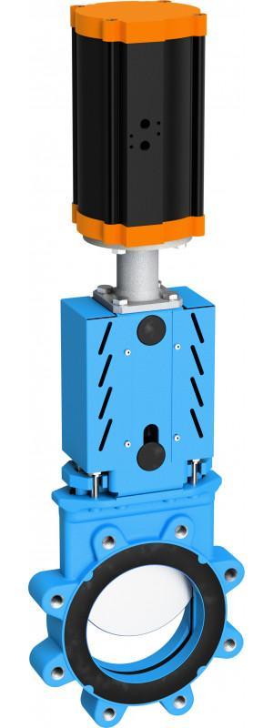 Plattenschieber Typ WB 14 - Plattenschieber mit Gewindebohrungen zum einseitigem Abflanschen der Rohrleitung