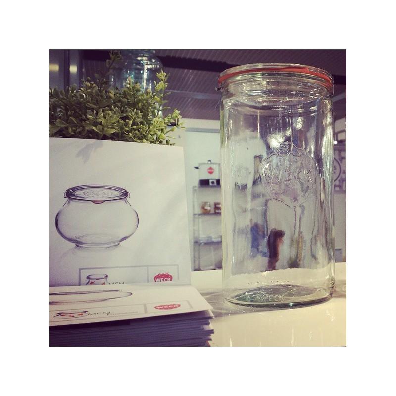 Tarros WECK TUBE® - 6 tarros en vidrio WECK TUBE® 1575 ml con tapas en vidrio y gomas (clips no