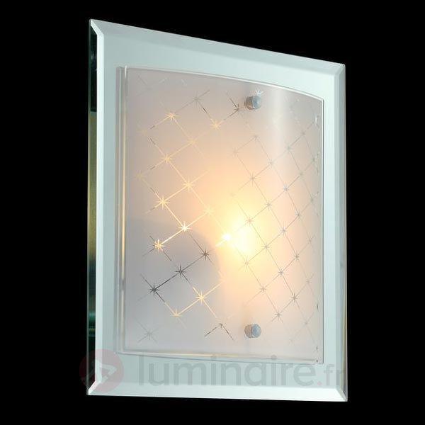 Applique rectangulaire Diada avec insert en verre - Toutes les appliques