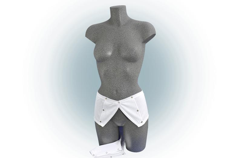 Damen-Slip, für Inkontinenzeinlagen, Weiß - Pflegebody