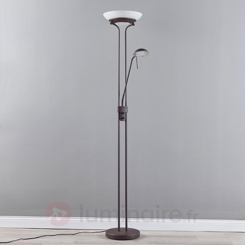Yveta - lampadaire LED variable rouille - Lampadaires LED à éclairage indirect