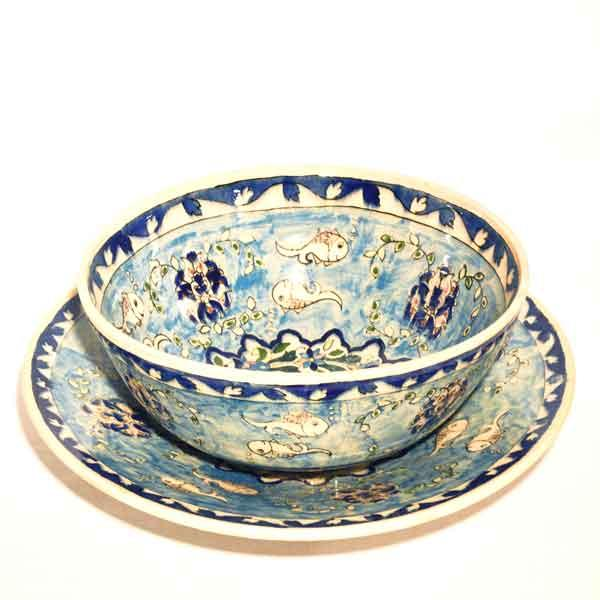 Handpainted Bowl and Plate -