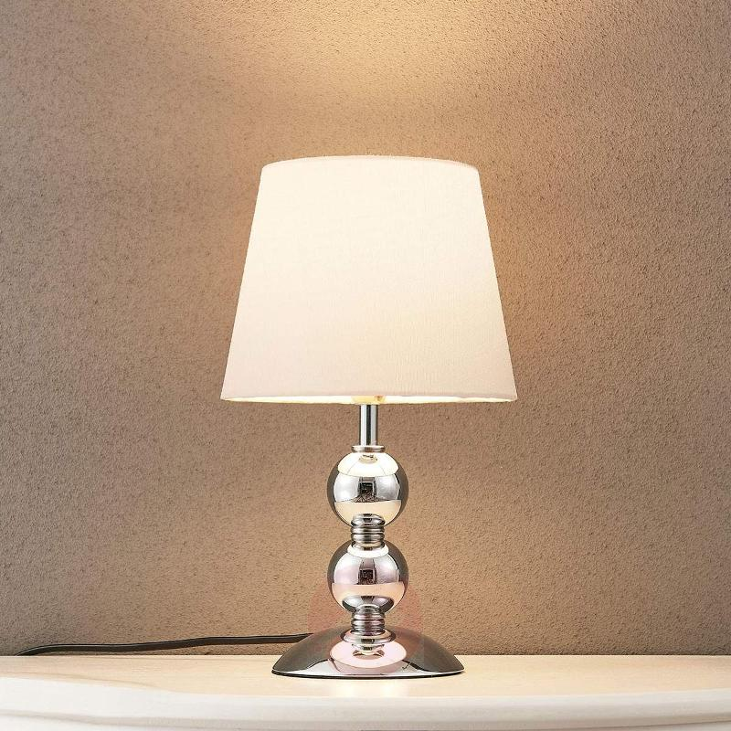 Elegant LED table lamp Minna with a satin look - Bedside Lamps