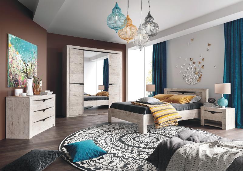 "Bedroom Set ""Sorento"" Boniface Oak - Bedroom furniture"