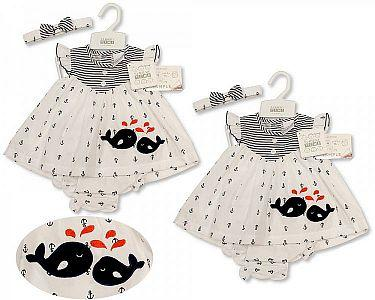 Baby Dress - Whale  -