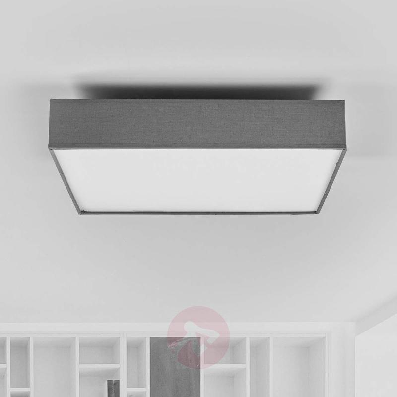 Grey fabric ceiling lamp Aka with LEDs - Ceiling Lights