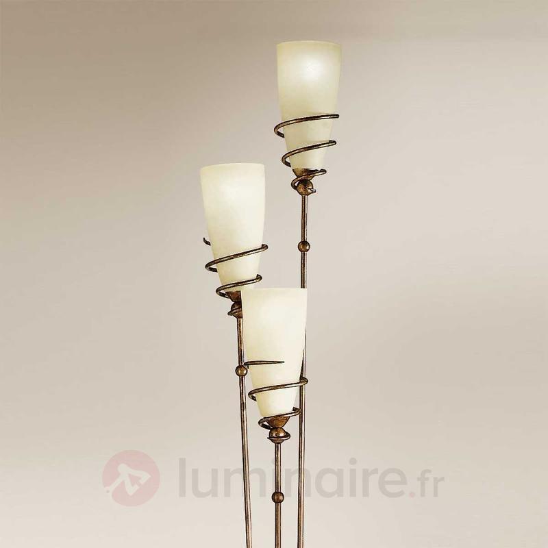 Lampadaire Daniele laiton antique - Lampadaires rustiques
