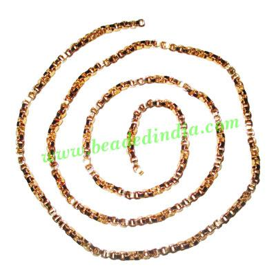 Gold Plated Metal Chain, size: 2.5mm, approx 36 meters in a  - Gold Plated Metal Chain, size: 2.5mm, approx 36 meters in a Kg.