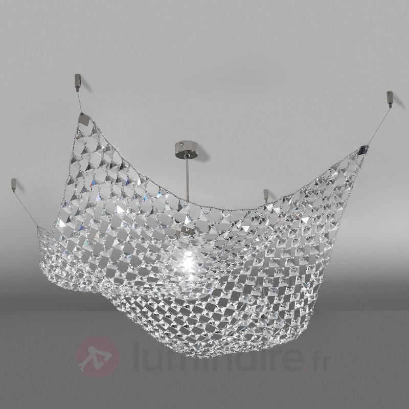 Magnifique plafonnier PAREO avec cristaux - Plafonniers en cristal