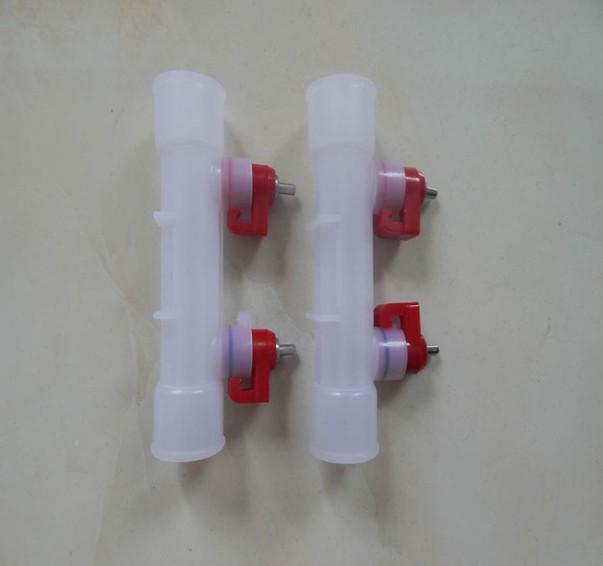 Double nipple steel ball water nipple drinker  - automatic poultry double nipple drinker for chicken