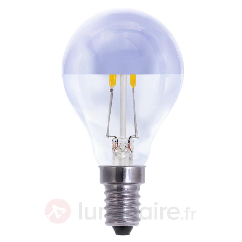 Lampe LED E14 2,7W à calotte miroitante blc chaud - Ampoules LED E14