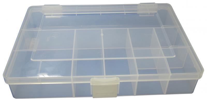 Assort-Box 25x17x4,6 8-tray - Plastic, transparent